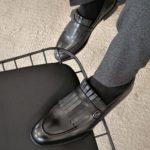 Aysoti Marvee Black Kilt Loafers