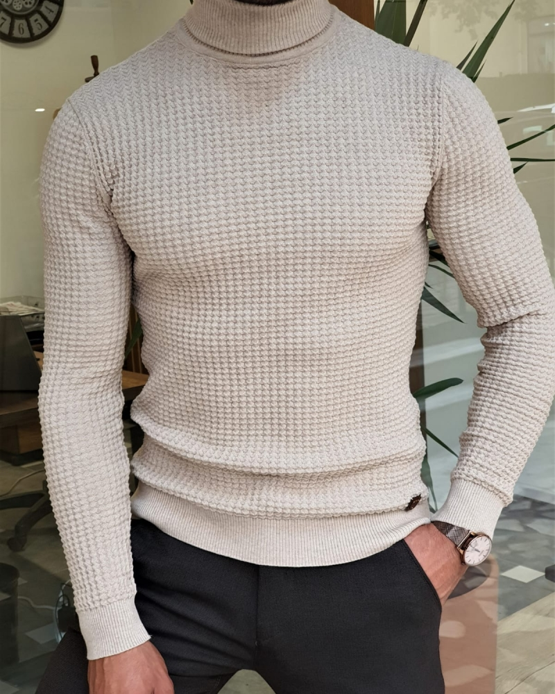 Aysoti Marvee Slim Fit Turtleneck Sweater