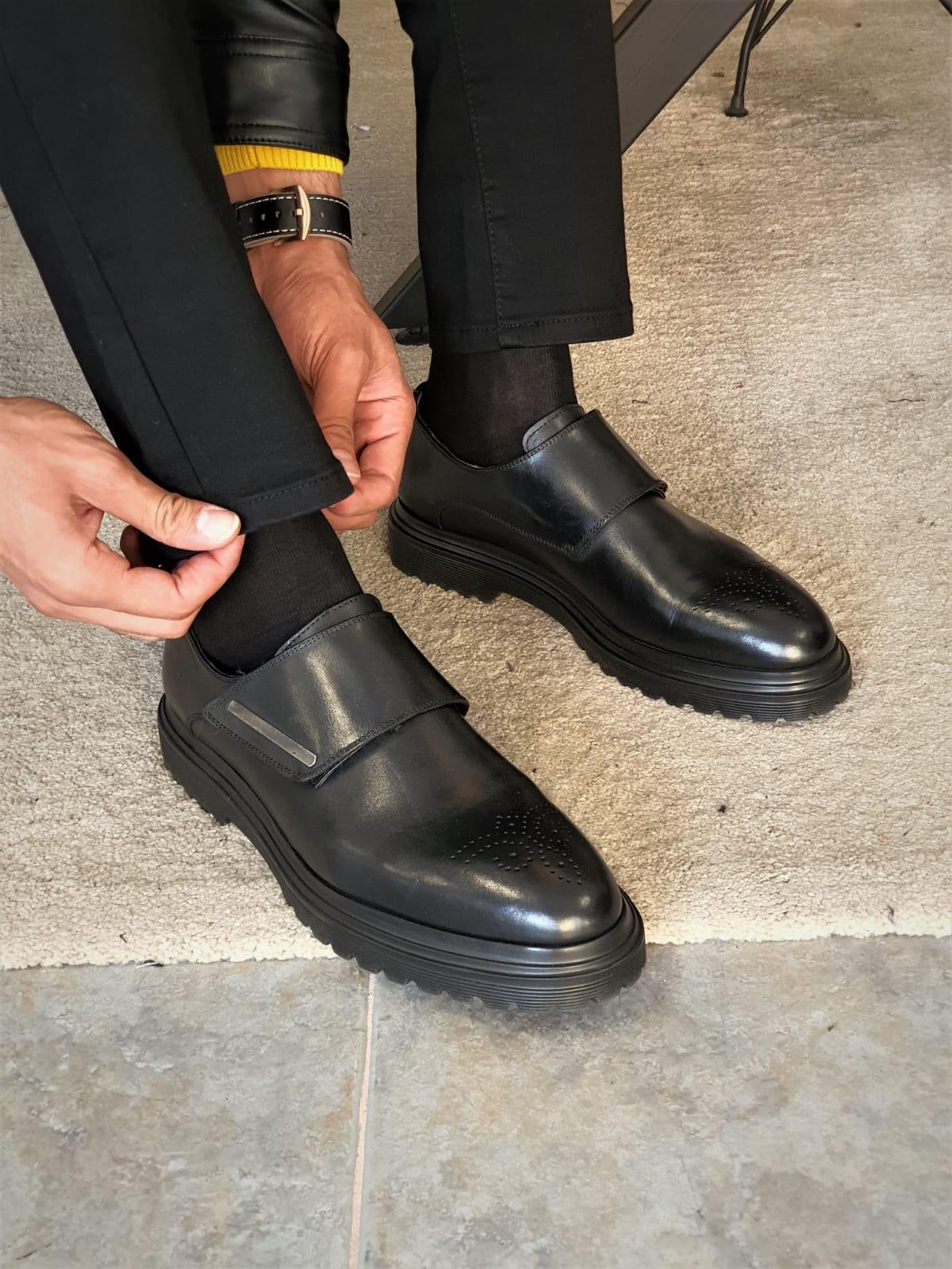 Aysoti Marvee Black Buckle Boots