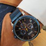 Aysoti Casba Navy Blue Automatic Round Wrist Watch