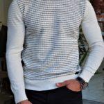 Aysoti White Slim Crewneck Sweater