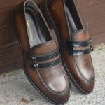 Aysoti Brown Buckle Loafers