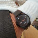 Aysoti Casba Brown Automatic Round Wrist Watch