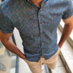 Aysoti Slim Fit Short Sleeve Floral Shirt