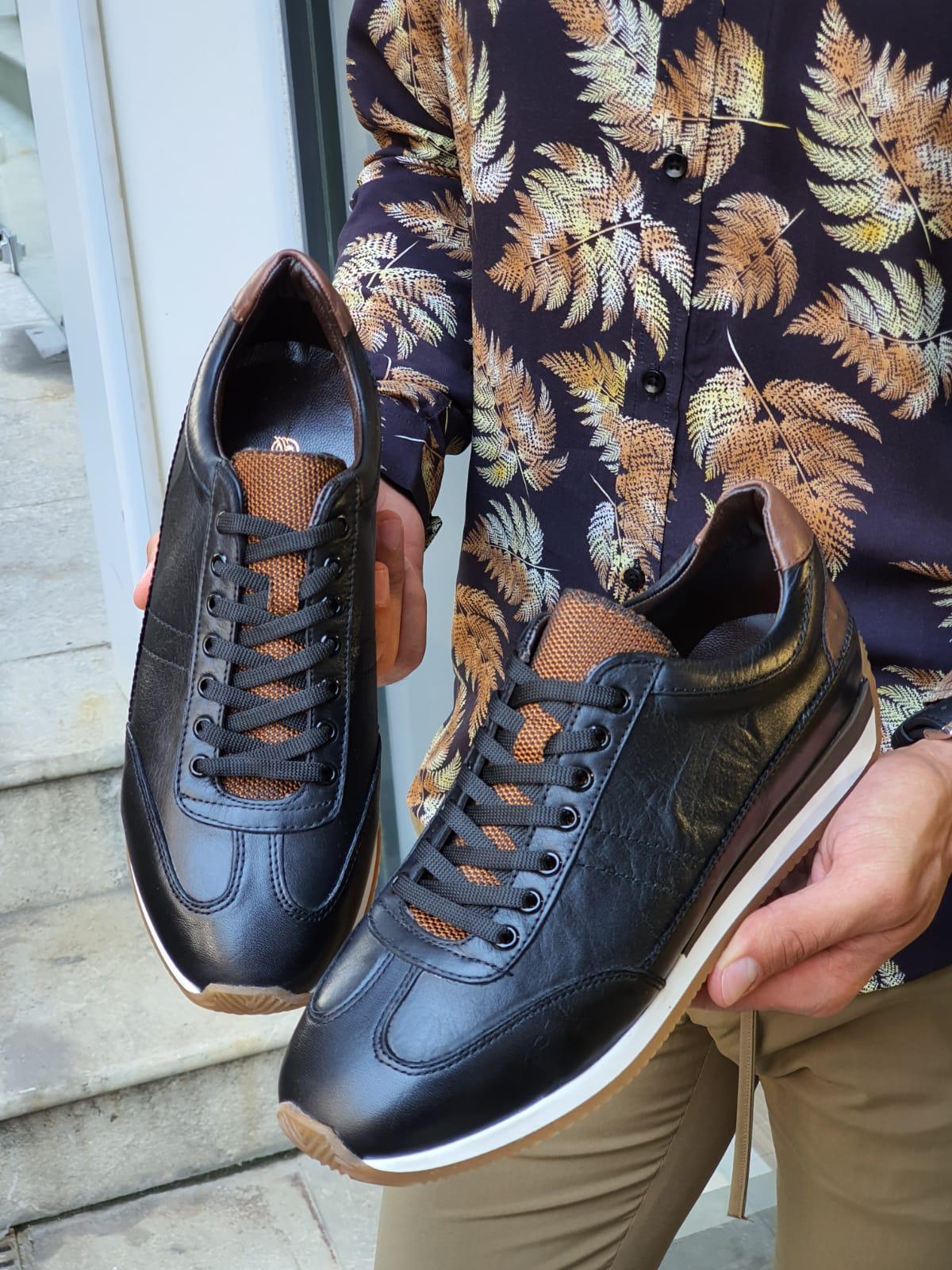 Aysoti Lehi Black Mid-Top Sneakers