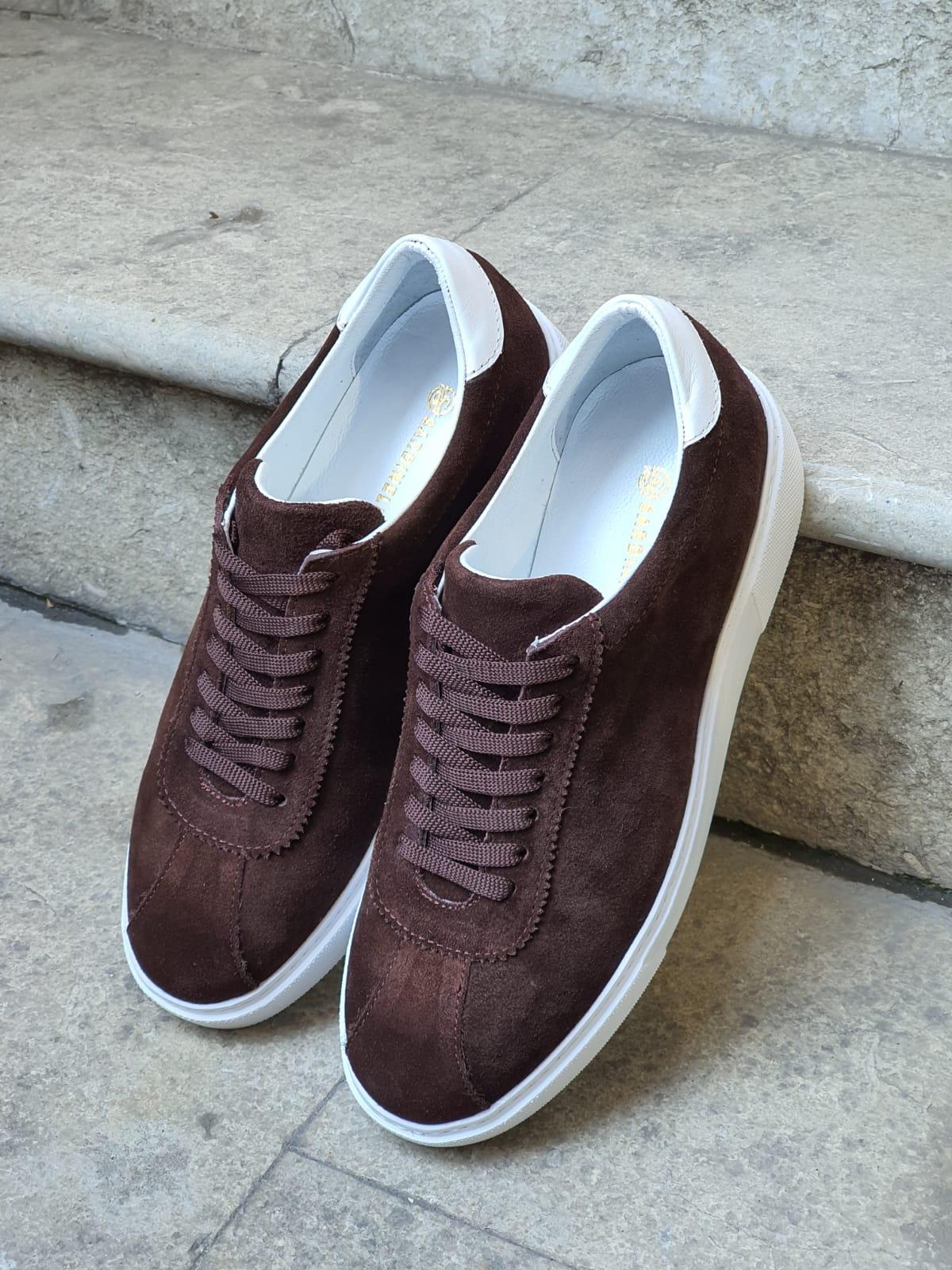 Aysoti Brown Mid-Top Suede Sneaker