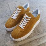 Aysoti Lehi Yellow Mid-Top Suede Sneaker