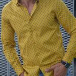 Aysoti Yellow Slim Fit Casual Shirt