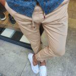 Aysoti New Bern Beige Slim Fit Laces Jeans