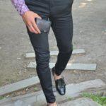 Aysoti Black Slim Fit Pants