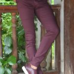 Aysoti Burgundy Slim Fit Pants