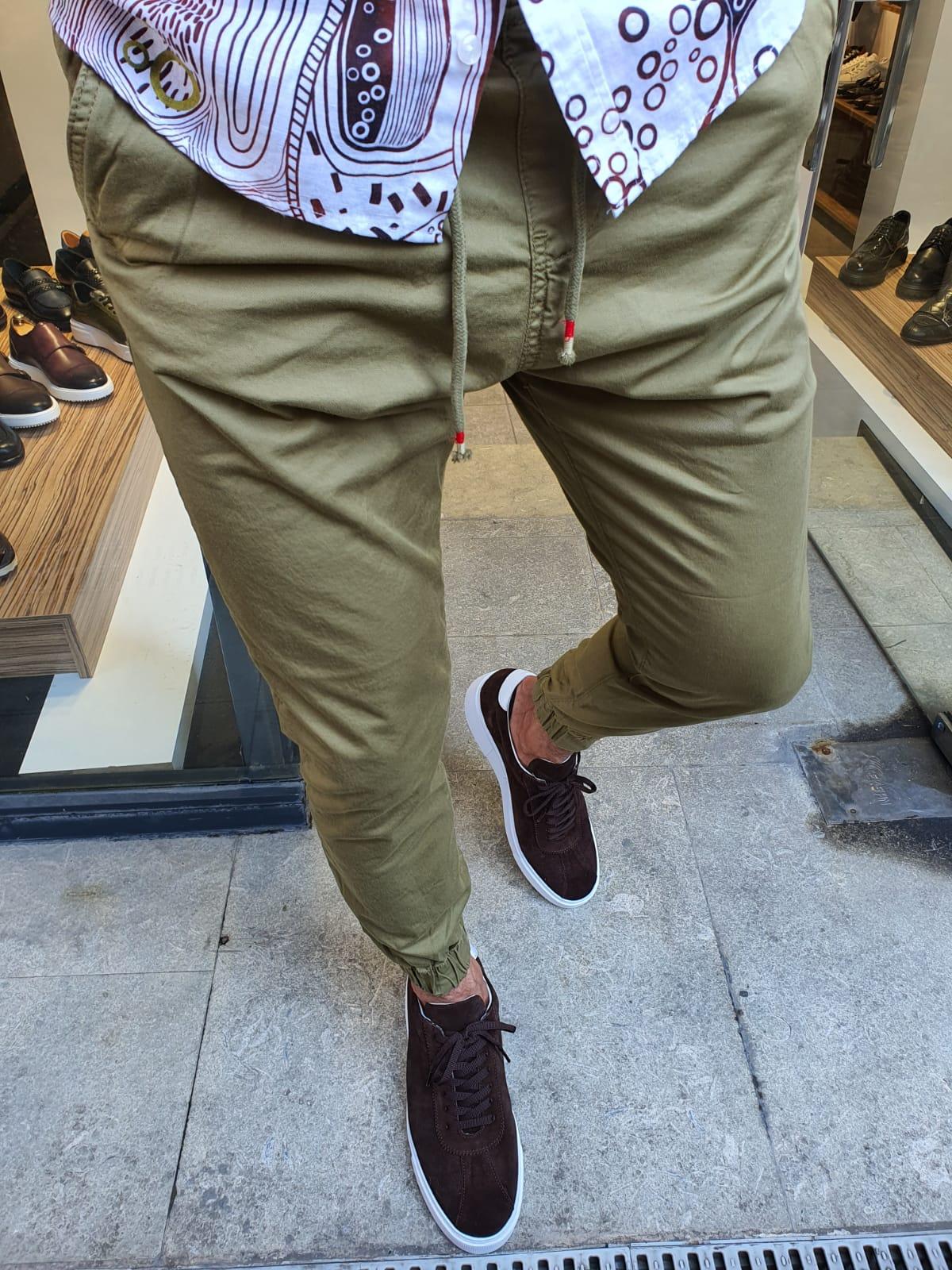 Aysoti New Bern Khaki Slim Fit Laces Jeans