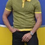Aysoti Khaki Slim Fit Polo T-Shirt