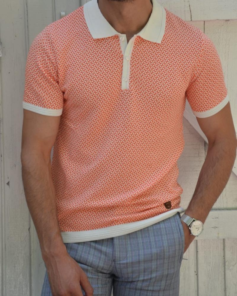 Aysoti New Bern Pink Slim Fit Polo T-Shirt