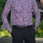Aysoti New Purple Slim Fit Cotton Shirt