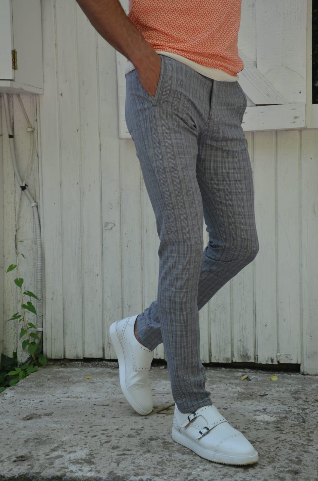 Aysoti Gray Slim Fit Pants