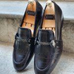 Aysoti Reno Black Kilt Loafers