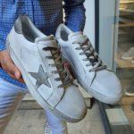 Aysoti Reno White Mid-Top Sneakers