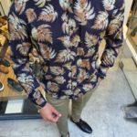 Aysoti Sparks Black Slim Fit Floral Shirt