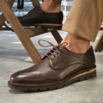 Aysoti Madeira Brown Laced Boots