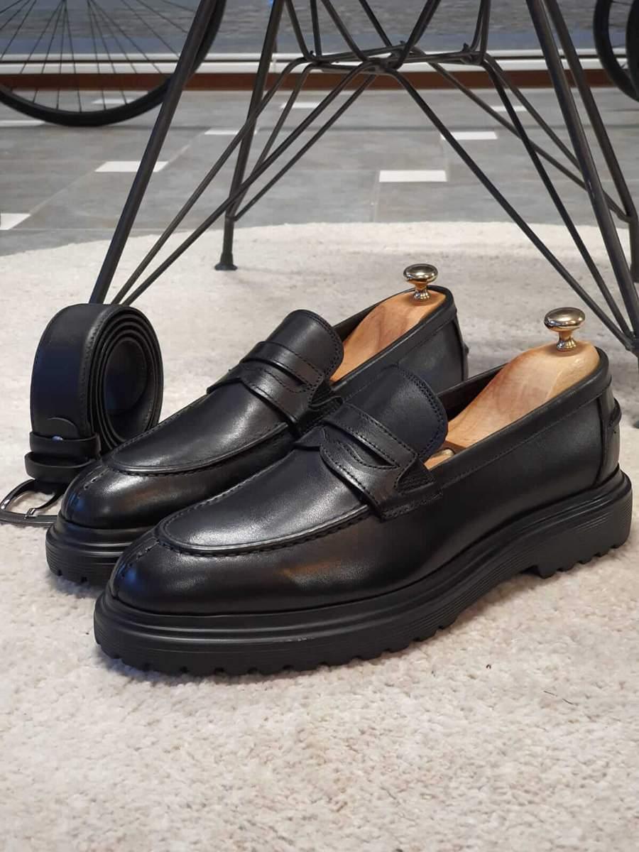 Aysoti Becksbourne Black Buckle Loafers