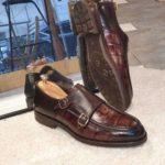 Aysoti Becksbourne Brown Monk Strap Loafers