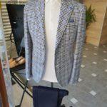 Aysoti Becksbourne Sax Slim Fit Plaid Suit