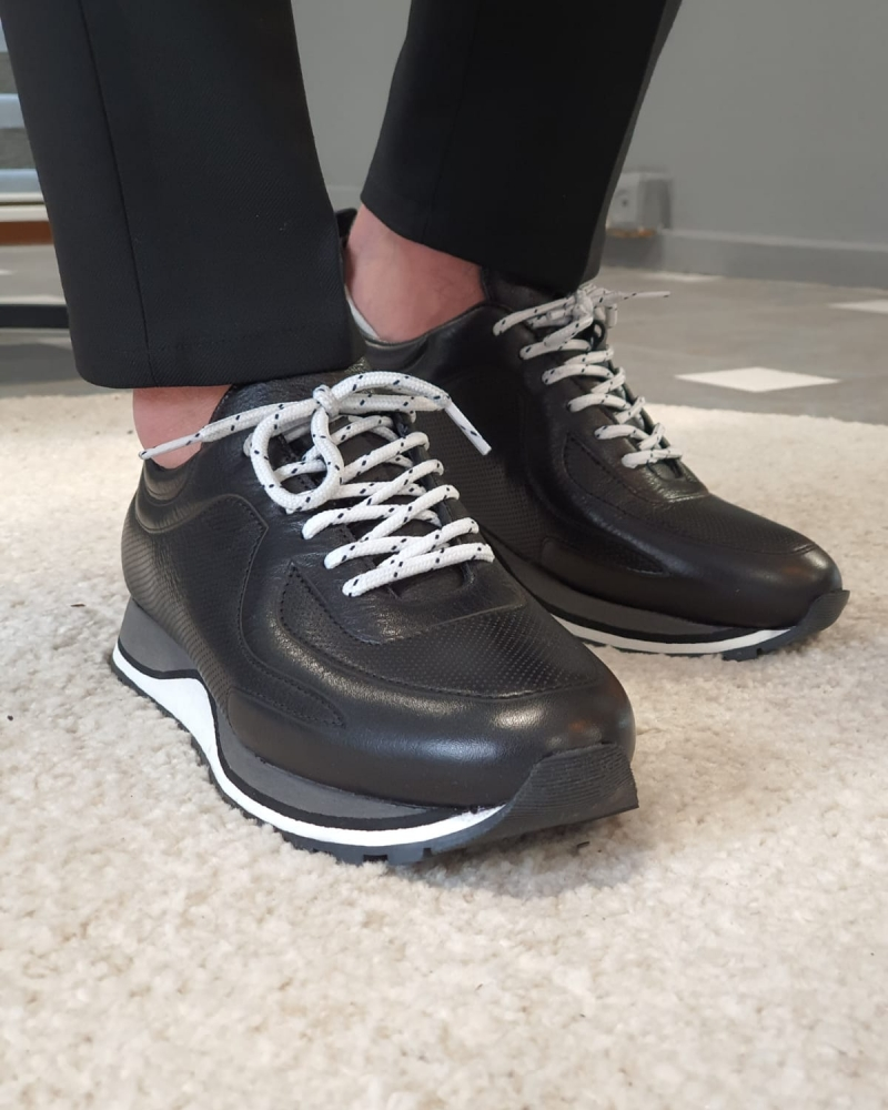 Aysoti Darlington Black Mid-Top Sneakers