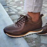 Aysoti Darlington Brown High-Top Lace Up Sneakers
