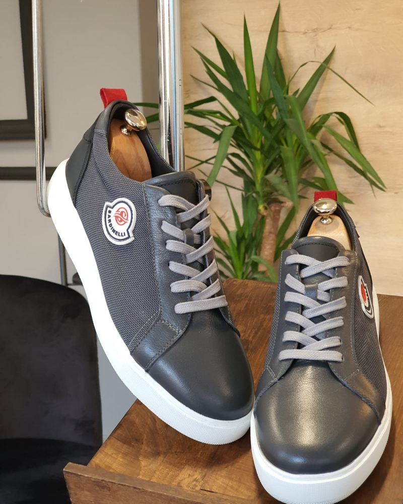 Aysoti Darlington Gray Mid-Top Sneakers