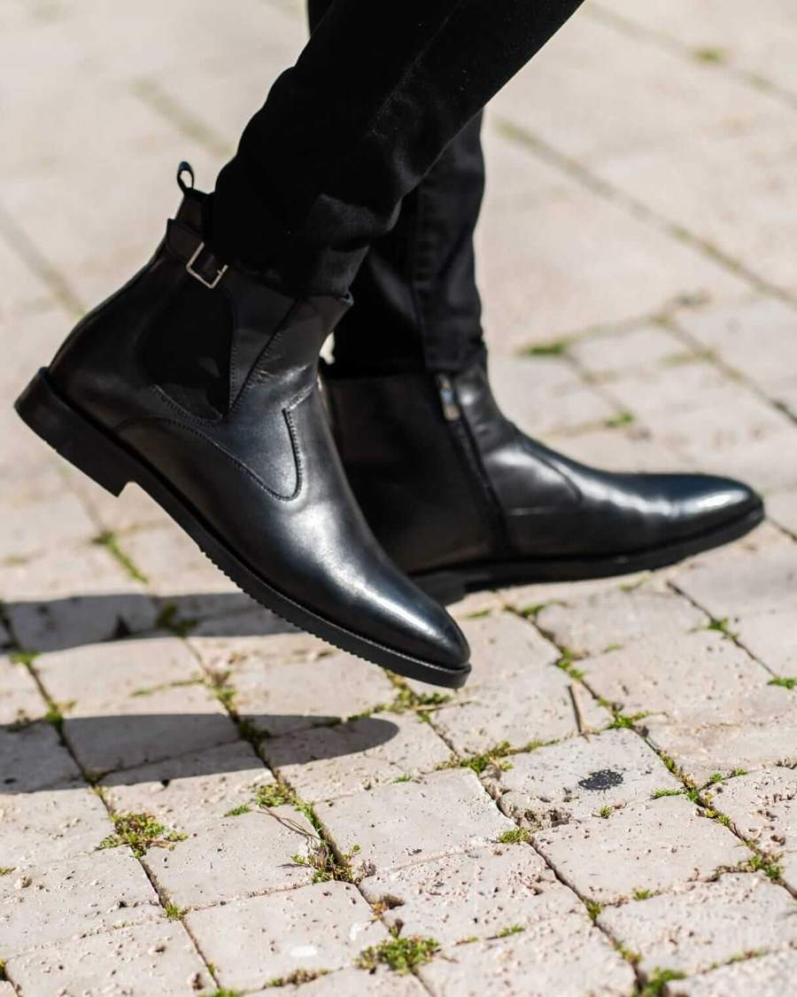 Aysoti Lysander Black Ankle Boots