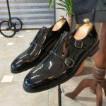 Aysoti Lysander Black Patent Leather Monk Strap Shoes
