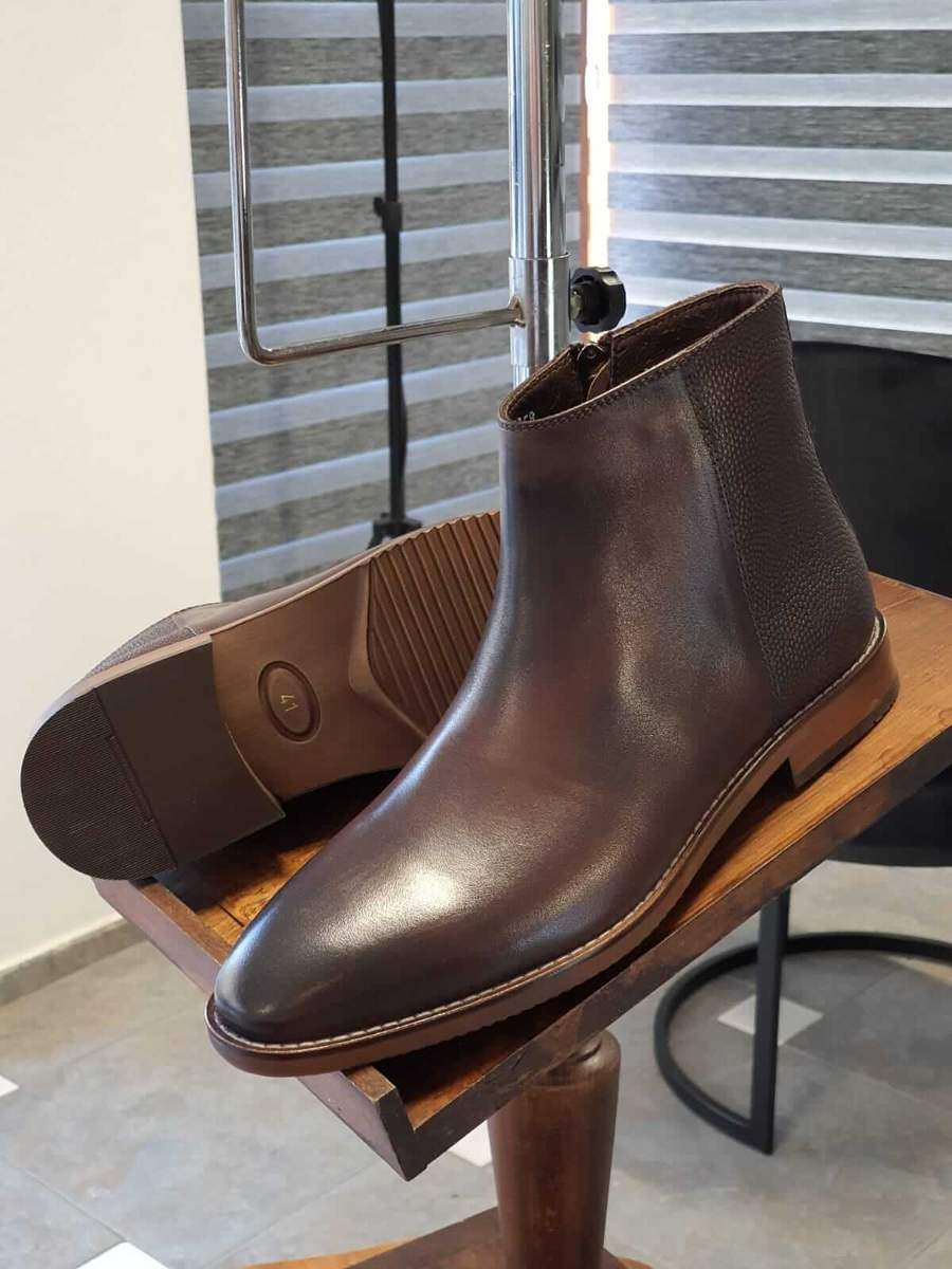 Aysoti Lysander Brown Ankle Boots