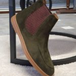 Aysoti Lysander Green Suede Chelsea Boots