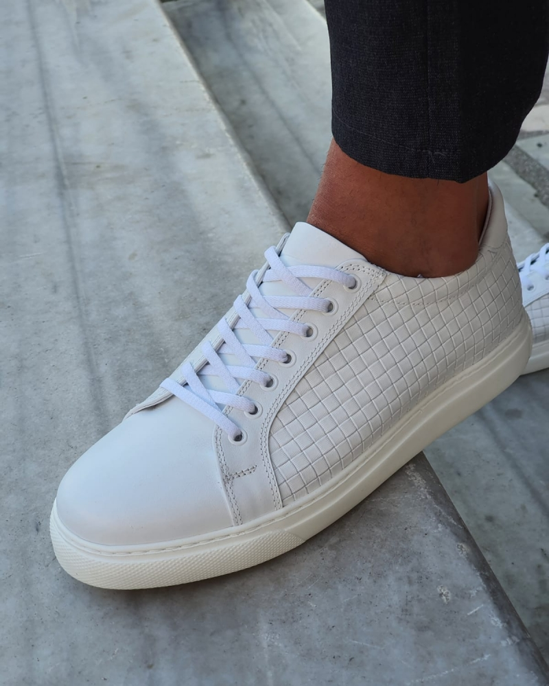 Aysoti Milford White Low-Top Sneakers