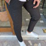 Aysoti Vermut Black Slim Fit Cotton Pants