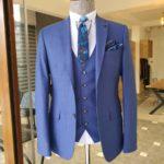 Aysoti Walter Blue Slim Fit Suit