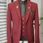 Aysoti Walter Red Slim Fit Suit