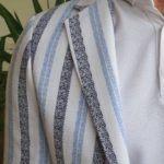 Slim Fit Striped Cotton Blazer