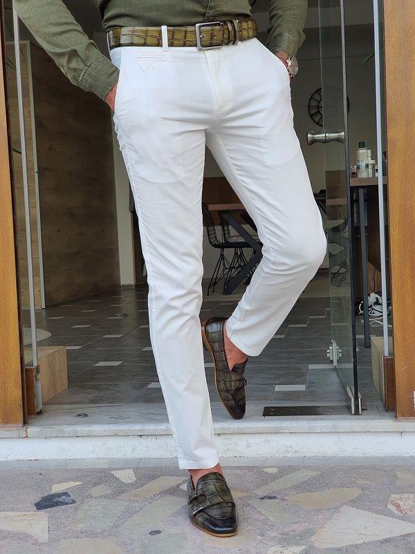Slim Fit Cotton Pants