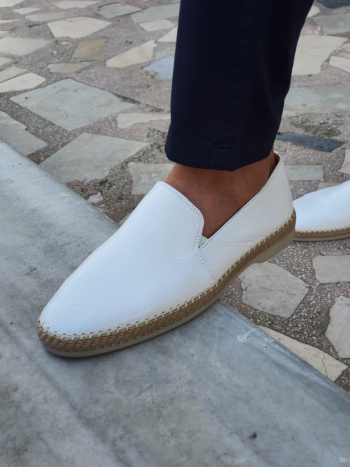White Slip-On Loafers