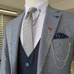 Navy Blue Slim Fit Notch Lapel Suit