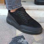 Black High-Top Suede Sneakers
