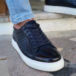 Aysoti Milford Navy Blue Low-Top Sneakers