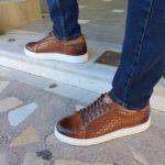 Tan Low-Top Sneakers