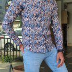 Slim Fit Long Sleeve Cotton Shirt