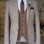 Beige Slim Fit Suit