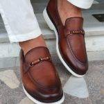 Brown Bit Loafers