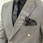 Slim-Fit Double Breasted Suit