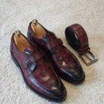 Burgundy Buckle Loafers